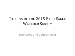 Results of the 2015 Bald Eagle Watcher Survey