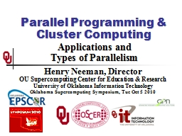 Parallel Programming & Cluster Computing PowerPoint PPT Presentation