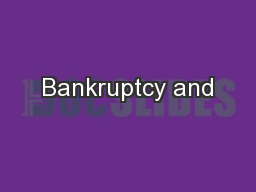 Bankruptcy and