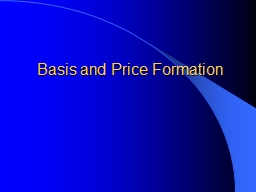 Basis and Price Formation