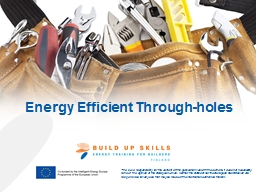 Energy Efficient Through-holes
