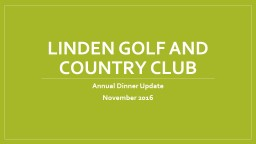 Linden Golf and Country Club