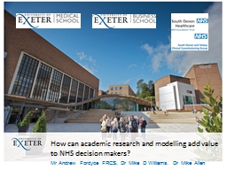 How can academic research and modelling add value to NHS de