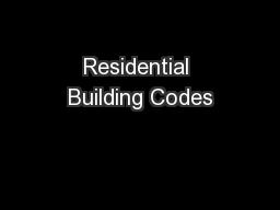 Residential Building Codes