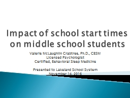 Impact of school start times on middle school students