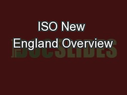 ISO New England Overview
