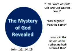 The Mystery of God Revealed PowerPoint PPT Presentation