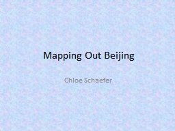 Mapping Out Beijing