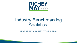 Industry Benchmarking Analytics: