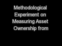 Methodological Experiment on Measuring Asset Ownership from