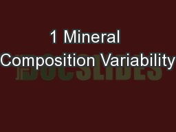 1 Mineral Composition Variability PowerPoint Presentation, PPT - DocSlides
