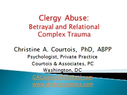 Clergy Abuse: