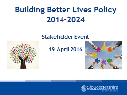 Building Better Lives Policy