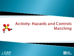 Activity: Hazards and Controls PowerPoint PPT Presentation