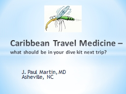 Caribbean Travel Medicine –