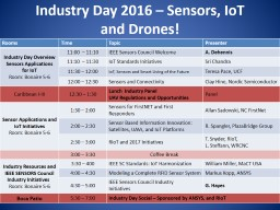 Industry Day 2016 – Sensors, PowerPoint PPT Presentation