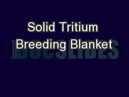 Solid Tritium Breeding Blanket