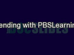 Blending with PBSLearning,