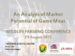 An Analysis of Market Potential of Game Meat