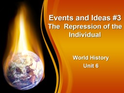Events and Ideas #3