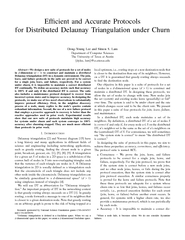 Efcient and Accurate Protocols for Distributed Delauna