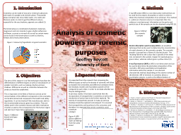 Analysis of cosmetic powders for forensic purposes