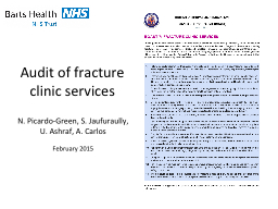 Audit of fracture clinic services