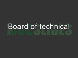 Board of technical