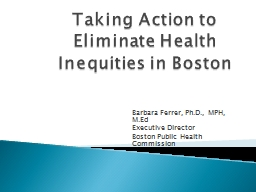 Taking Action to Eliminate