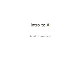 Intro to AI