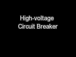 High-voltage Circuit Breaker