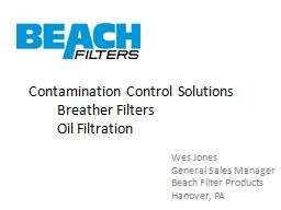 Contamination Control Solutions