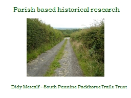 Parish based historical research
