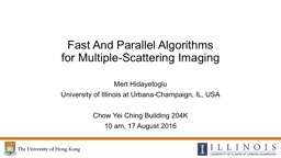 Fast And Parallel Algorithms