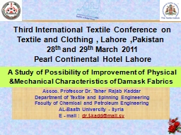 A Study of Possibility of Improvement of Physical &Mech