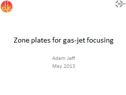 Zone plates for gas-jet focusing