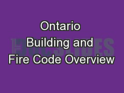 Ontario Building and Fire Code Overview