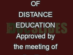 SYLLABUS UNDER DIRECTORATE OF DISTANCE EDUCATION Approved by the meeting of the Post Graduate Board held on