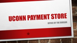 UConn Payment Store