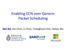Enabling ECN over Generic