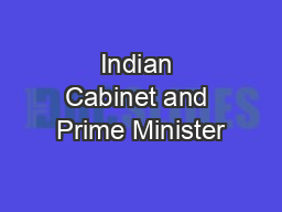 Indian Cabinet and Prime Minister