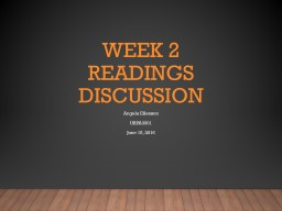 Week 2 Readings Discussion