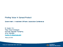 Finding Value in Spread Product PowerPoint PPT Presentation