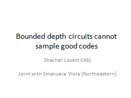Bounded depth circuits cannot sample good codes