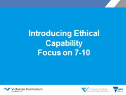 Introducing Ethical Capability PowerPoint PPT Presentation