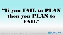 """""""If you FAIL to PLAN then you PLAN to FAIL"""" PowerPoint PPT Presentation"""