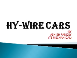 Hy-wire cars PowerPoint PPT Presentation
