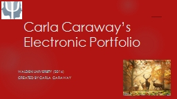 Carla Caraway's Electronic Portfolio PowerPoint PPT Presentation