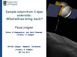 Sample return from C-type asteroids: