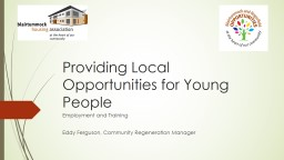 Providing Local Opportunities for Young People: